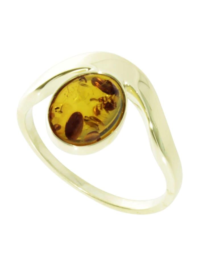 OSTSEE-SCHMUCK Ring - Urda - Gold 333/000 - Bernstein, gold