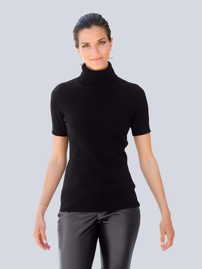 Alba Moda Pullover aus hochwertiger reiner Kaschmirqualität, Schwarz