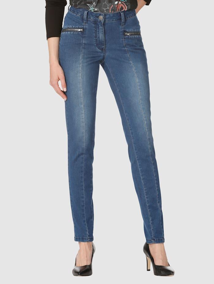 AMY VERMONT Jeans mit Mittelnaht, Blue stone