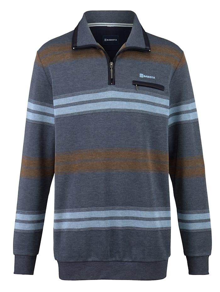 BABISTA Sweatshirt met borstzakje, Blauw