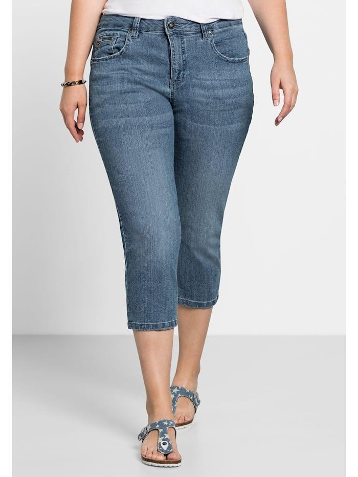 Sheego Capri-Jeans, light blue Denim