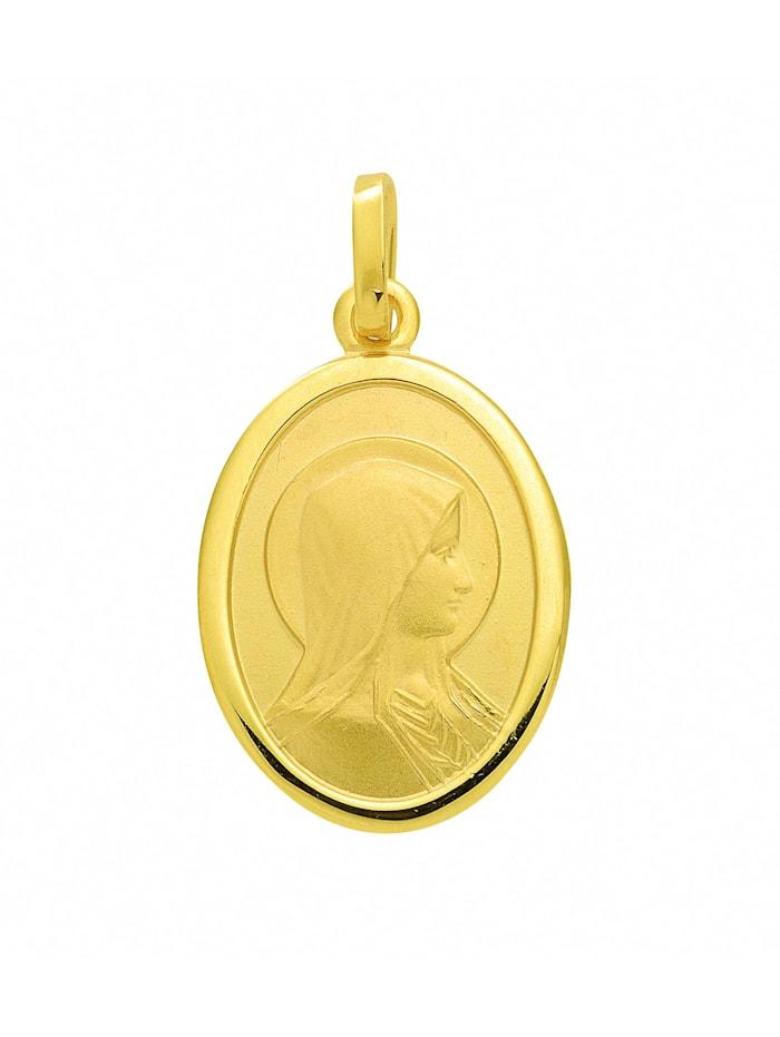 1001 Diamonds Damen Goldschmuck 585 Gold Anhänger Madonna, gold