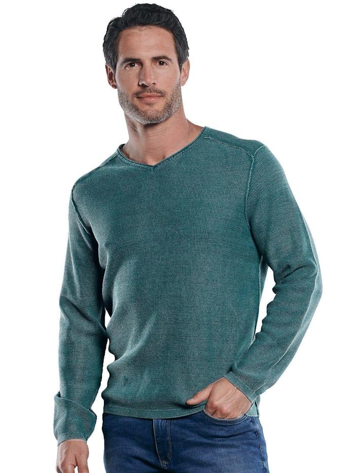 Engbers Hochwertiger Pullover mit elegantem V-Ausschnitt, Indigoblau