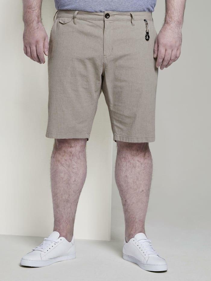 Tom Tailor Men Plus Josh Regular Slim Chino Shorts, beige structure