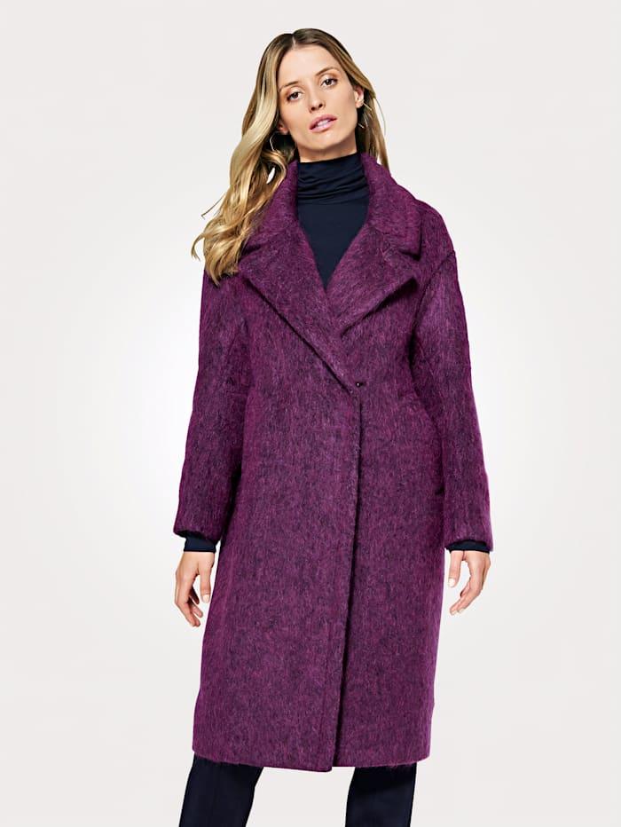 Artigiano Jacket with luxe alpaca, Fuchsia