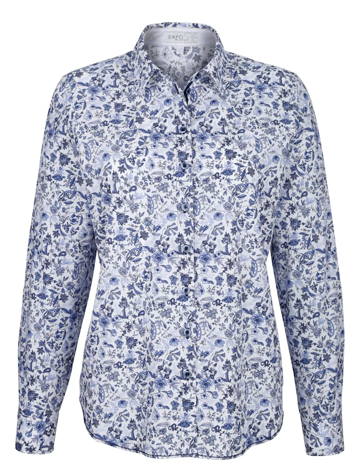 Blouse with chic all-over print
