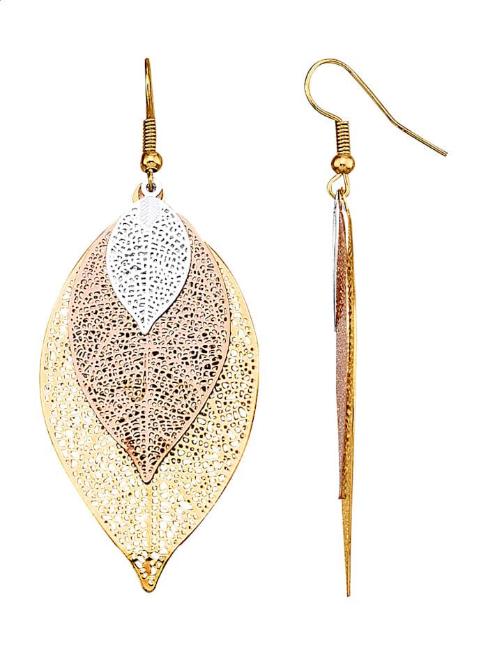 Ohrringe mit Blattmotiv, Multicolor