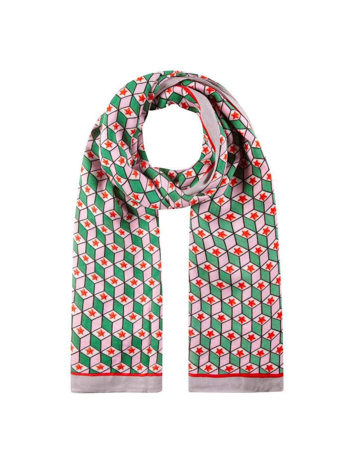 Codello Viskose-Schal mit exklusivem Grafik-Print, green