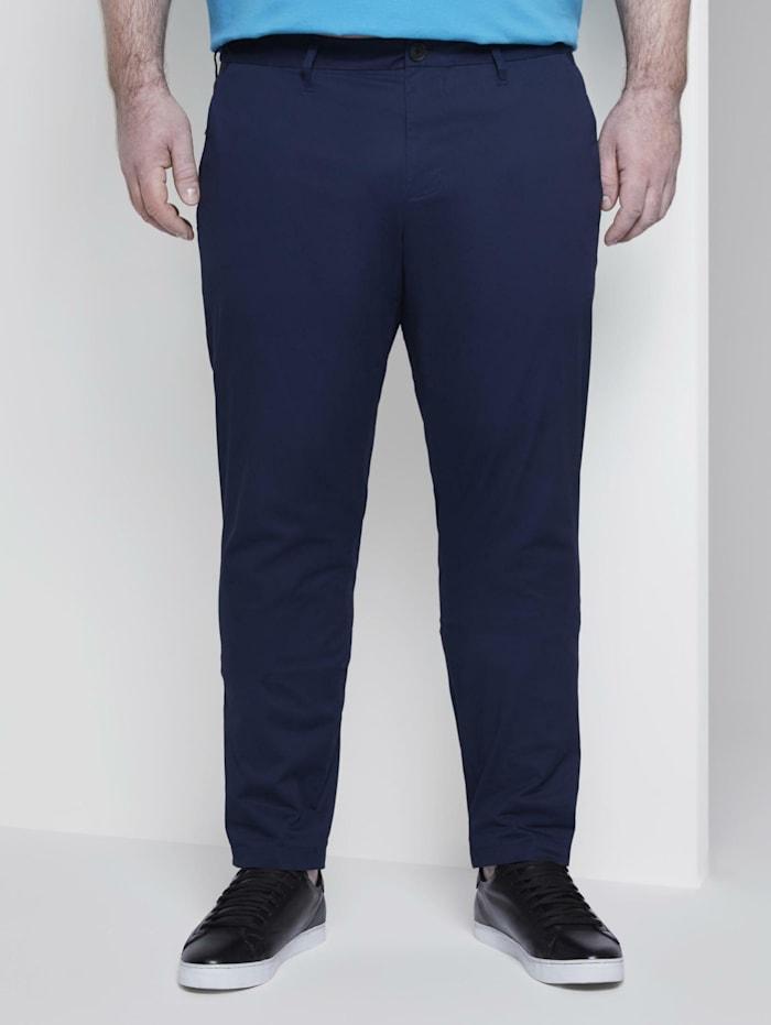 Tom Tailor Men Plus Slim Chino Hose, Black Iris Blue