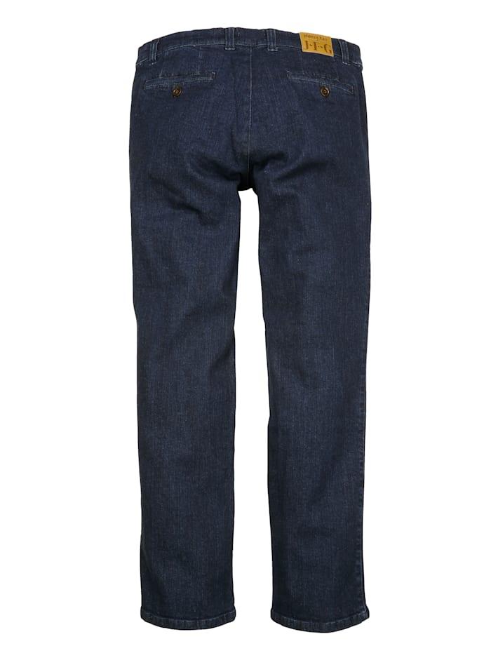 Jeans met schuine insteekzakken