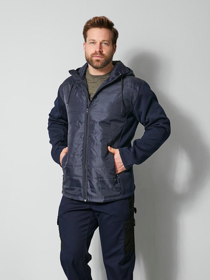 Men Plus Hybrit-Jacke Spezialschnitt, Marineblau