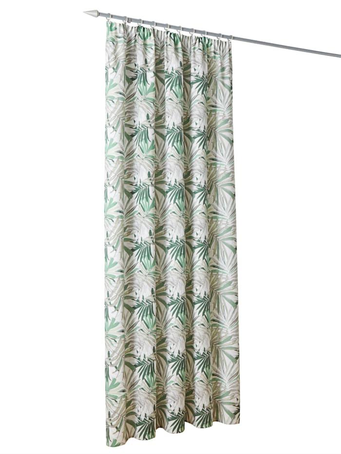 Webschatz Dekogardine 'Loneta', grün