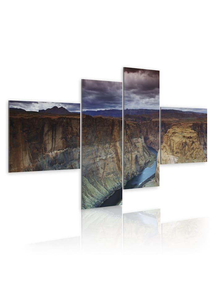 artgeist Wandbild Marmor-Cañon, brown,grey,navy blue
