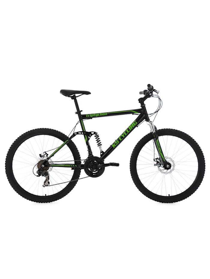 KS Cycling Mountainbike Fully 21 Gänge Triptychon 26 Zoll, schwarz