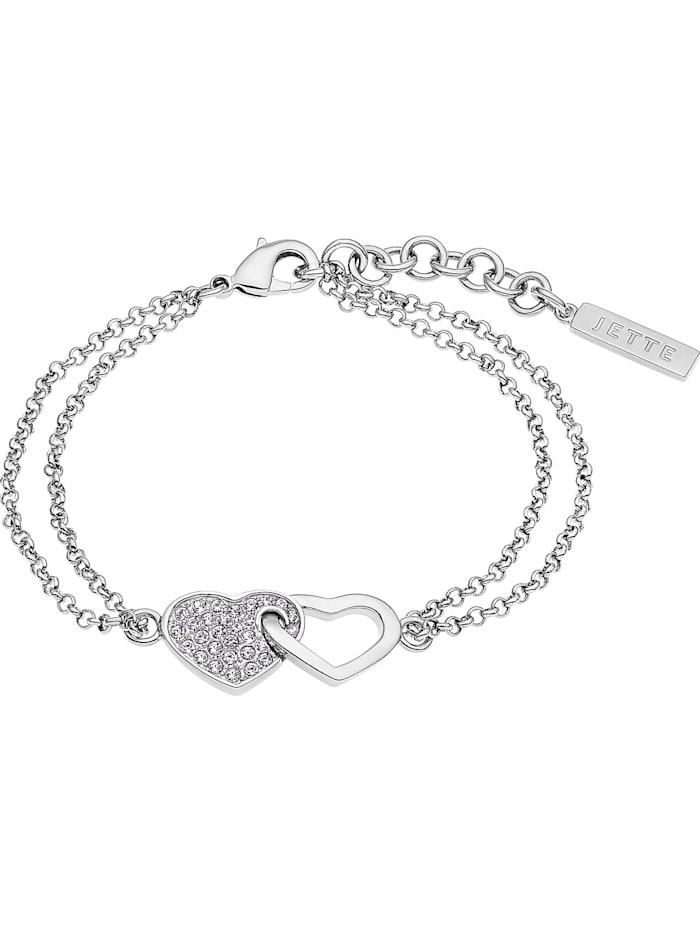 Jette JETTE Damen-Armband 925er Silber rhodiniert 33 Zirkonia, silber
