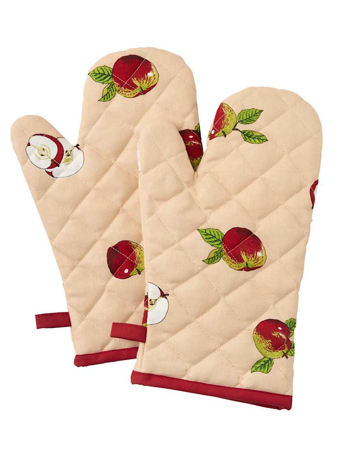 Kracht Kochhandschuh 'Apfel' im 2er-Pack, Rot