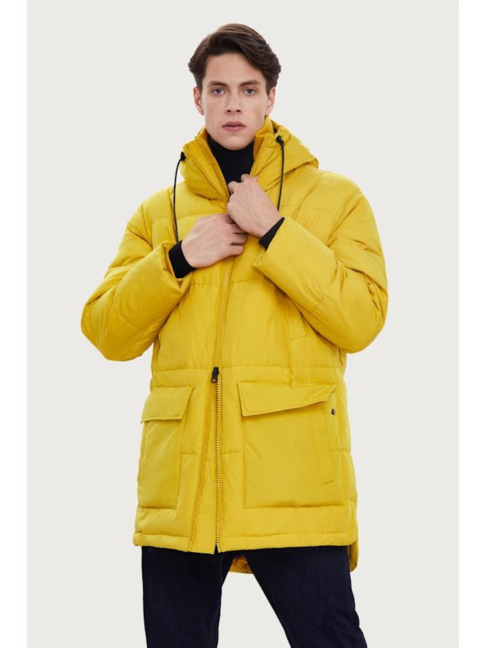 Finn Flare Steppjacke mit geradem Schnitt, yellow