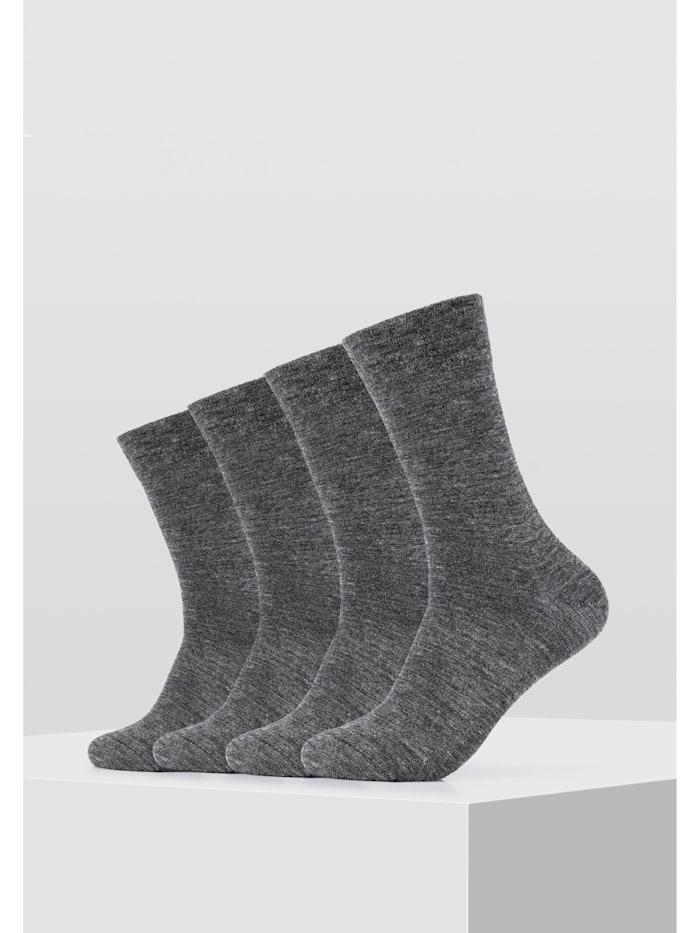 Socken ca-soft 4er Pack Bund ohne Gummidruck