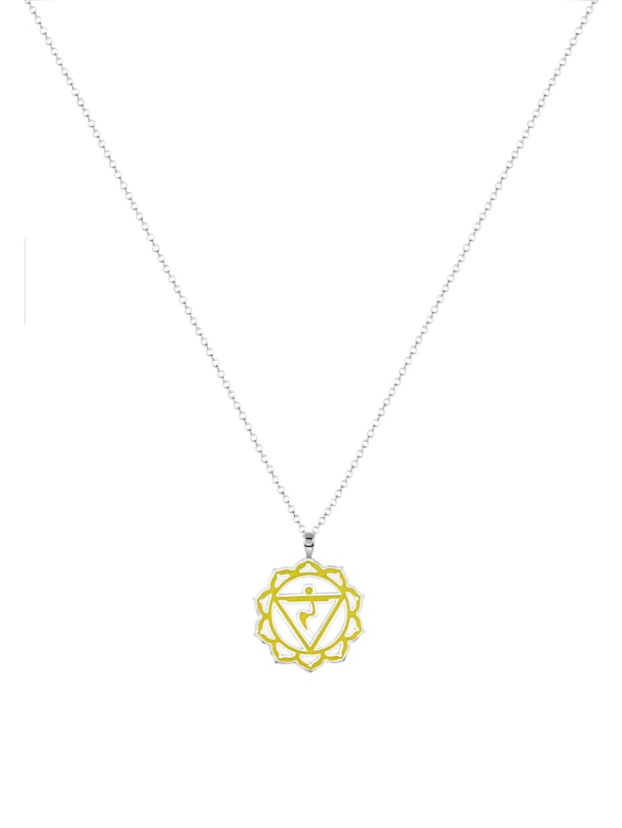 Halskette 925 Sterling Silber Chakra Anhänger Spirit Symbol Yoga Damen Nenalina