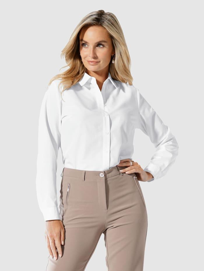 Paola Chemisier à col chemise classique, Blanc