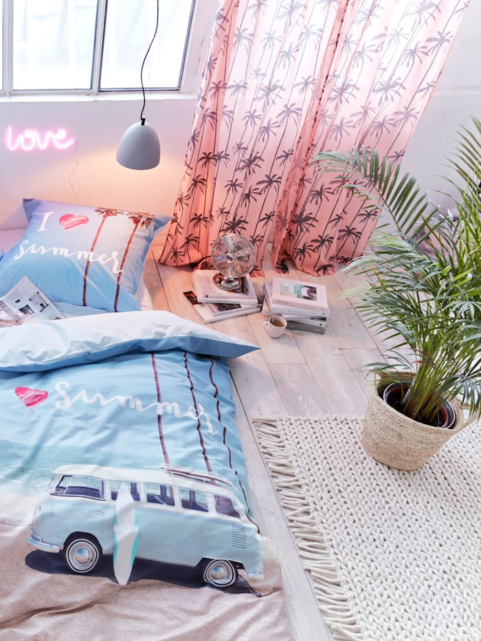 Vorhang-Set, 2-tlg., Palme