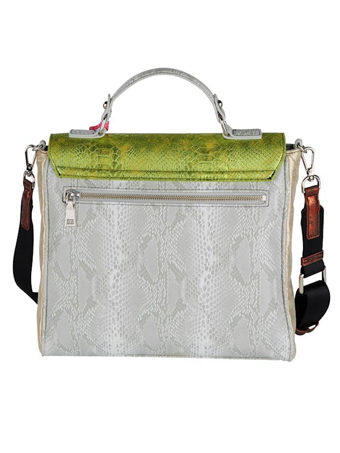 Handväska med olika präglingar