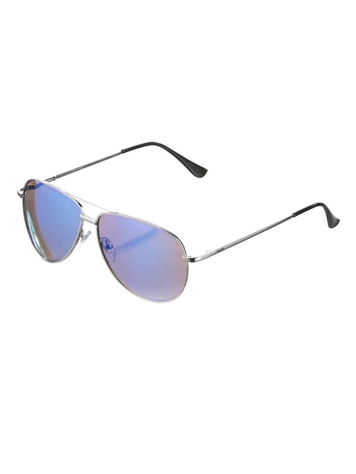 Alba Moda Slnečné okuliare v tvare pilotiek, strieborná/modrá