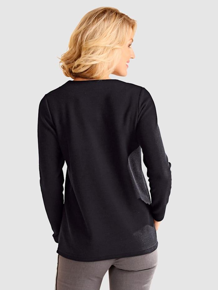 Sweatshirt mit Streifeneinsatz