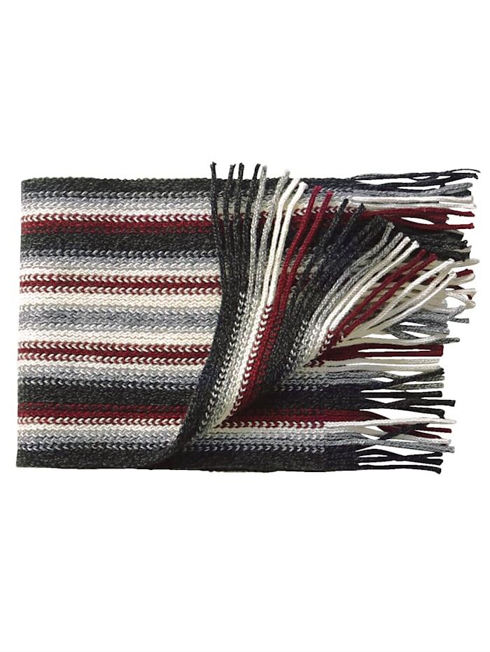Sjaal met modieus streeppatroon