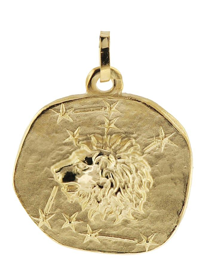 trendor Sternzeichen-Anhänger Löwe 333 Gold 20 mm, Goldfarben