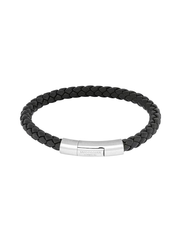 Tateossian Armspange CHARLES - MEDIUM - SILVER, black