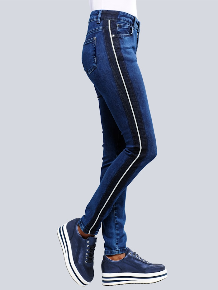 Jeans met paspel opzij