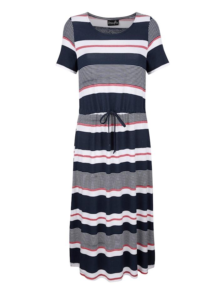 Dress In Jersey jurk met streeppatroon, Marine