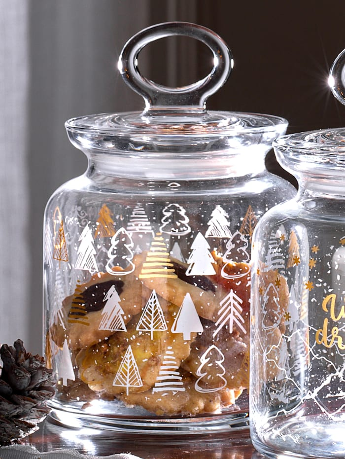 Ritzenhof & Breker Glasdose 'Tree Winter', 1 Liter, Ungefärbt