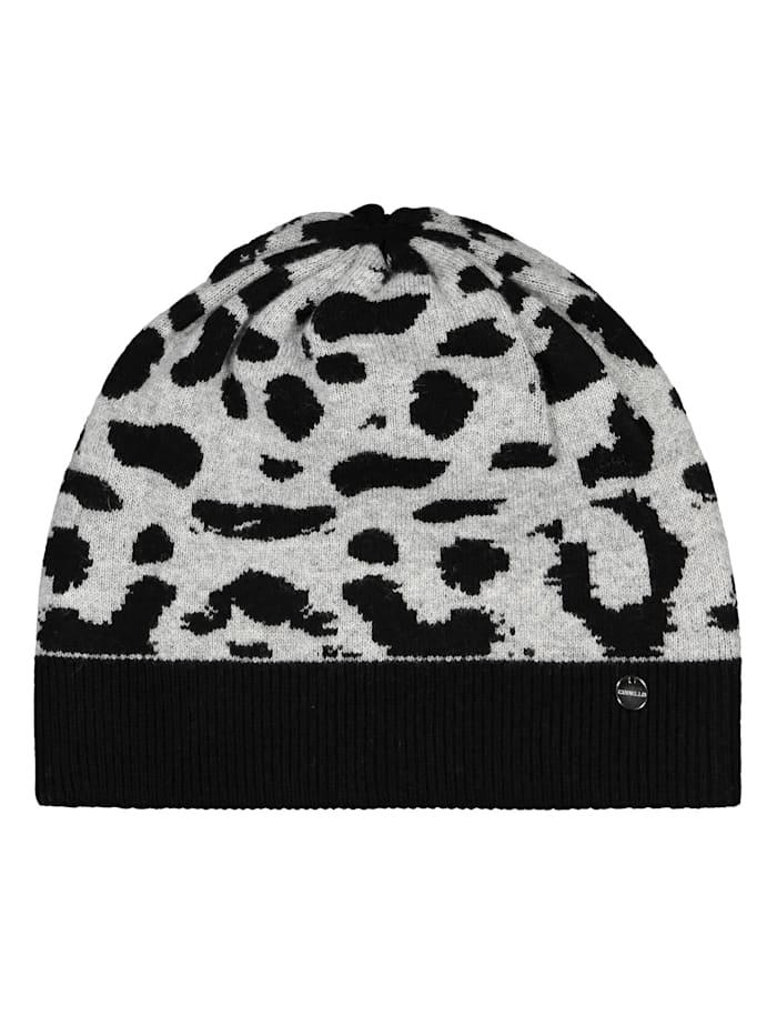 Codello Leo-Mütze aus warmen Wolle-Mix, light grey