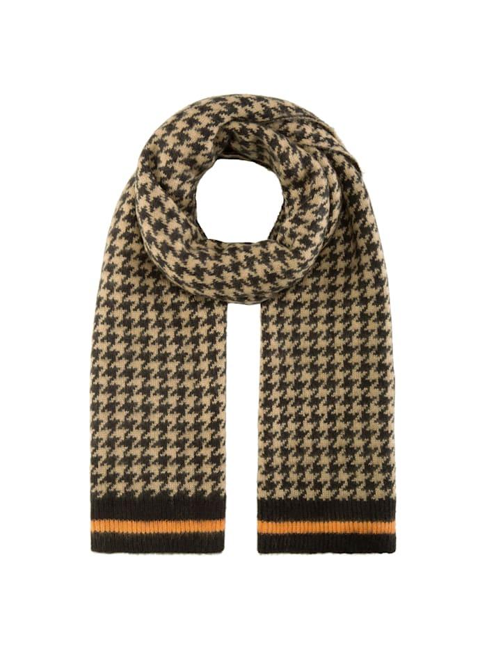 Codello Softer Oversized-Schal mit zeitlosem Hahnentritt-Muster, camel