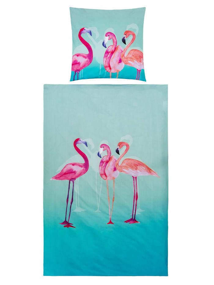 Florella Bettwäsche, Flamingo, multicolor