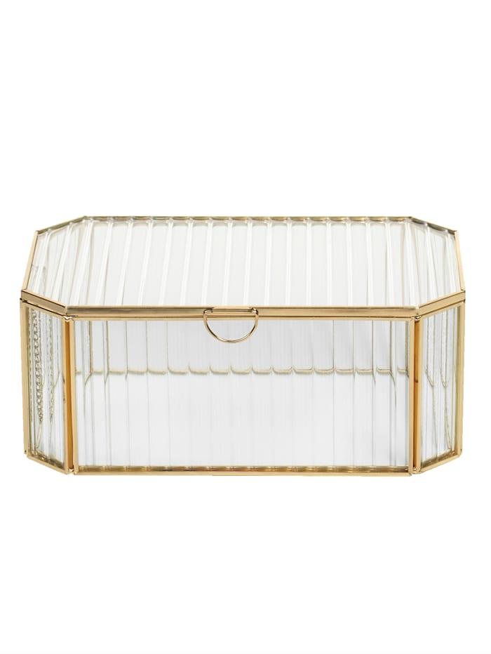 IMPRESSIONEN living Glas-Box, Gelbgoldfarben