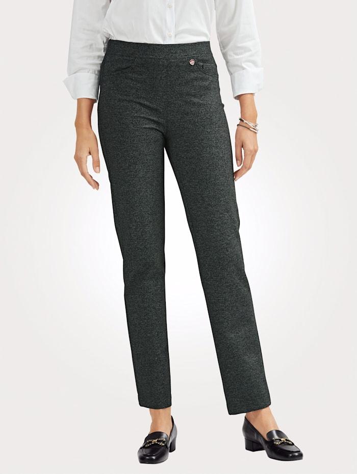 Pull-on trousers in salt/pepper finish
