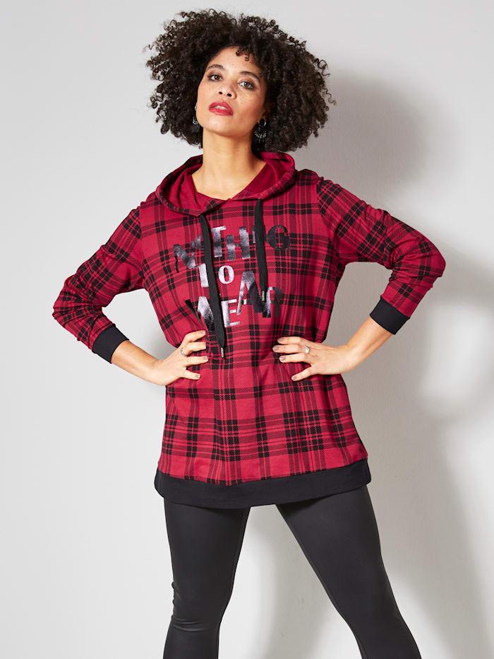 Angel of Style Sweatshirt mit Schriftzug Print, Rot/Schwarz