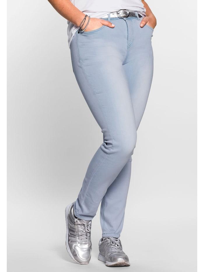 Sheego Jeans Super elastisches Power-Stretch-Material, light blue Denim