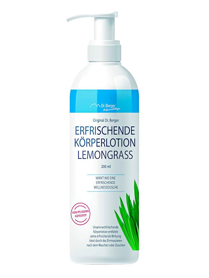 Dr.Berger Erfrischende Körperlotion Lemongrass, weiß