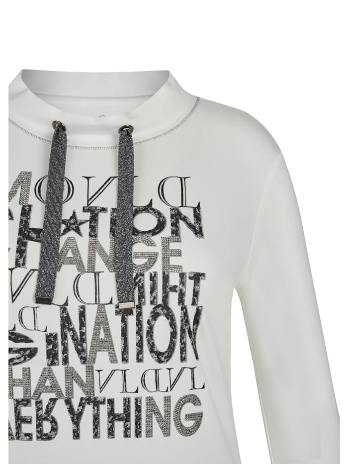 Shirt mit glitzerndem Front-Print und Lettering