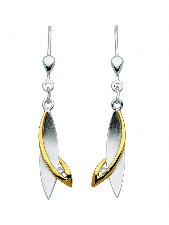 1001 Diamonds 1001 Diamonds Damen Silberschmuck 925 Silber Ohrringe / Ohrhänger mit Zirkonia, silber