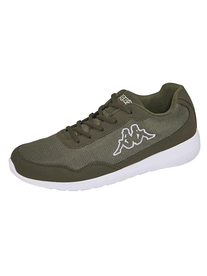 Kappa Sneaker in Mesh-Optik, Khaki