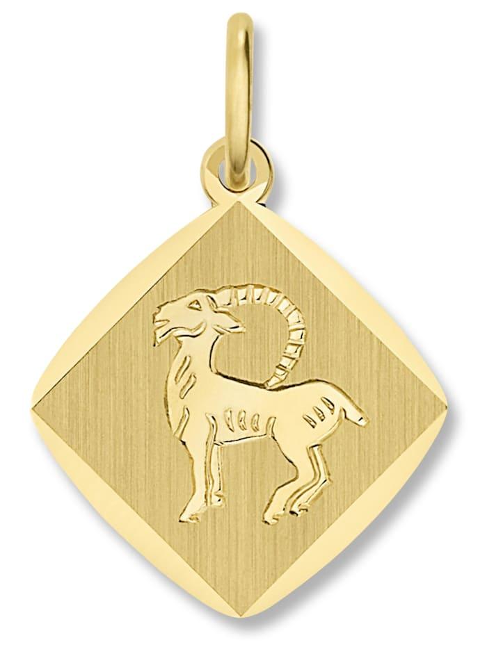 One Element Damen Schmuck Sternzeichen Anhänger Steinbock aus 333 Gelbgold, gold