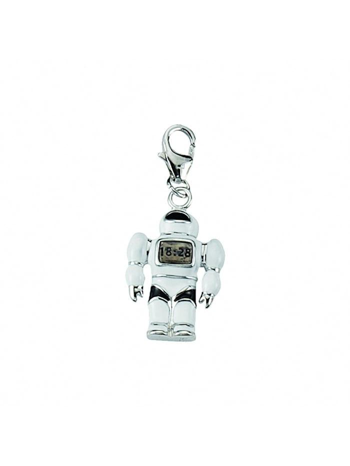 1001 Diamonds Damen Silberschmuck 925 Silber Charms Anhänger Roboter, silber