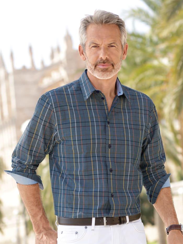 BABISTA Hemd aus reiner Baumwolle, Blau/Gelb