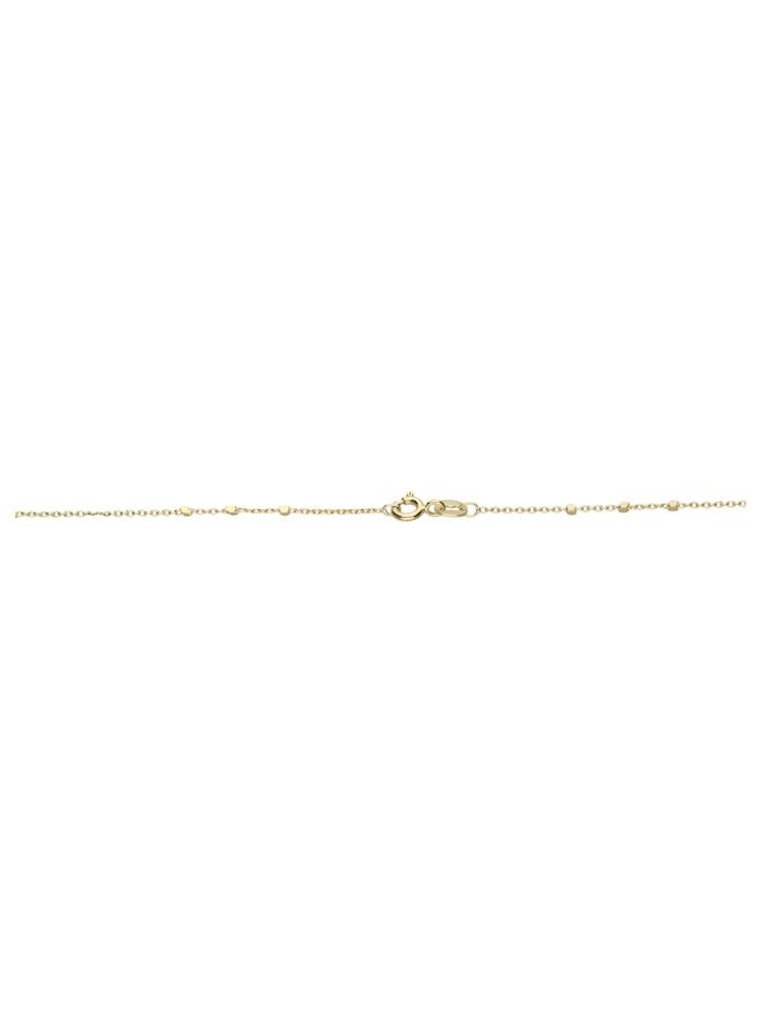 Collier Ankerkette diamantiert mit Zwischenteilen