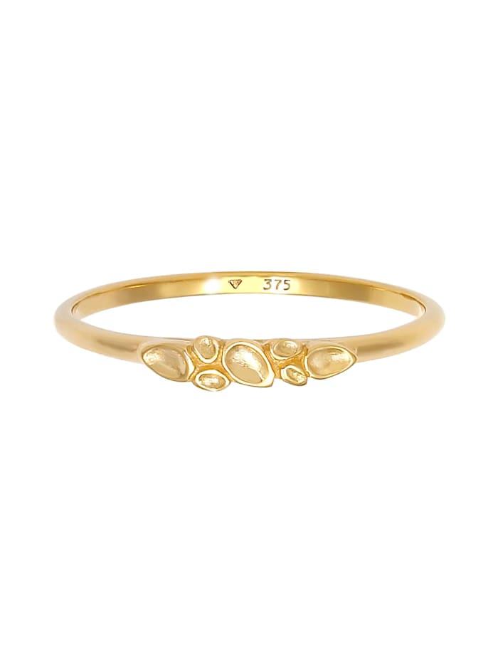 Ring Organic Natural Struktur 375 Gelbgold